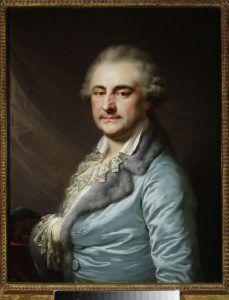 Jan Chrzciciel Lampi Starszy Portret Stanisława Augusta w szlafroku. (źródło: Muzeum Narodowe w Warszawie)