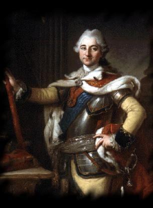Peter Krafft Starszy Stanisław August w mundurze paradnym korpusu kadetów. (źródło: Muzyka Dawna)