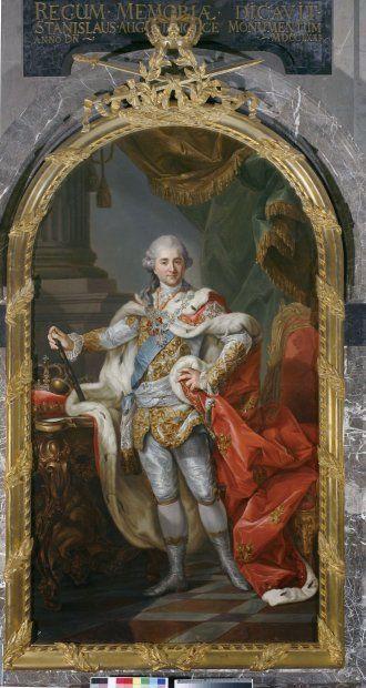 Marcello Bacciarelli Stanisław August w stroju koronacyjnym (również po koronacyjny). (źródło: Zamek Krolewski w Warszawie)