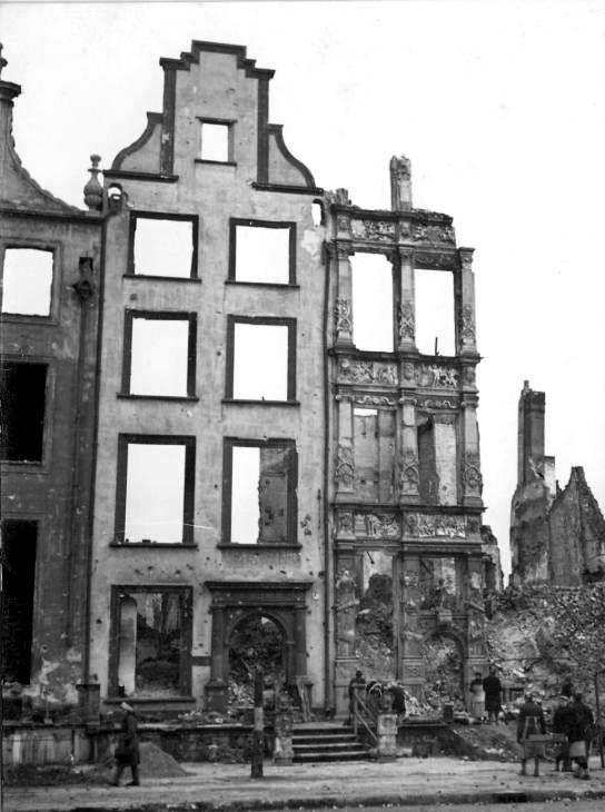 Złota Kamienica w 1945 r. (fot. ze strony Facebookowej Gdańsk, Strefa Prestiżu).
