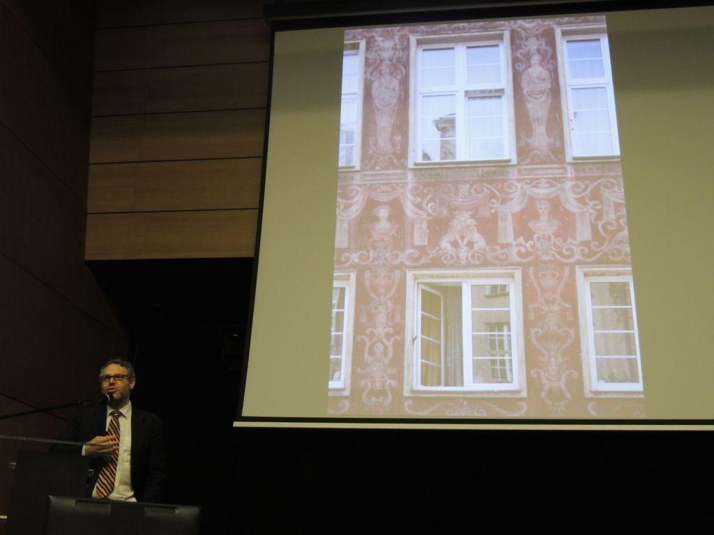 Dr Jacek Friedrich w czasie konferencji w Europejskim Centrum Solidarności (fot. P. Olejarczyk).