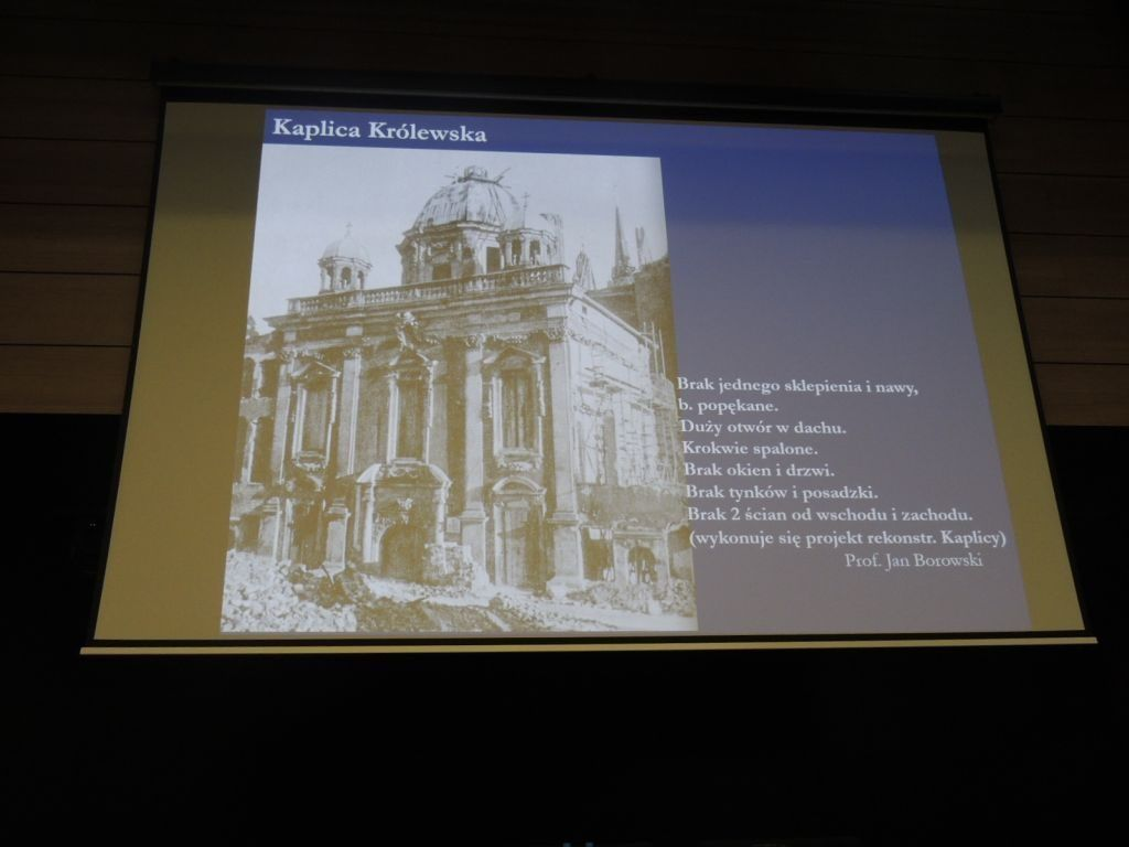 Fragment prezentacji prof. Marcina Gawlickiego w czasie konferencji w Europejskim Centrum Solidarności (fot. P. Olejarczyk).