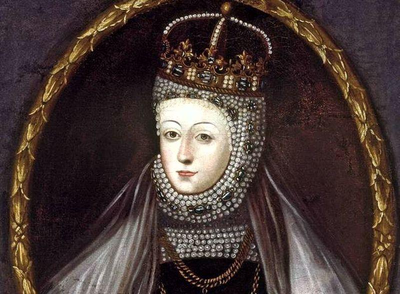 Barbara Radziwiłłówna w perłach