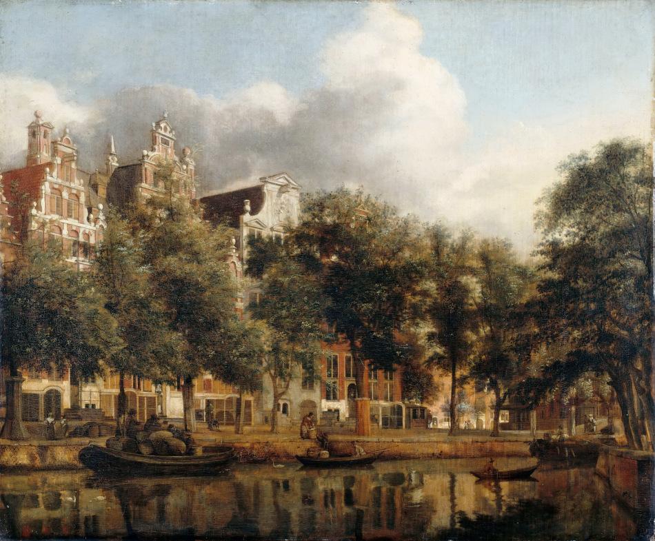Widok na Herengracht, Amsterdam - Jan van der Heyden, 1668-1674 r.
