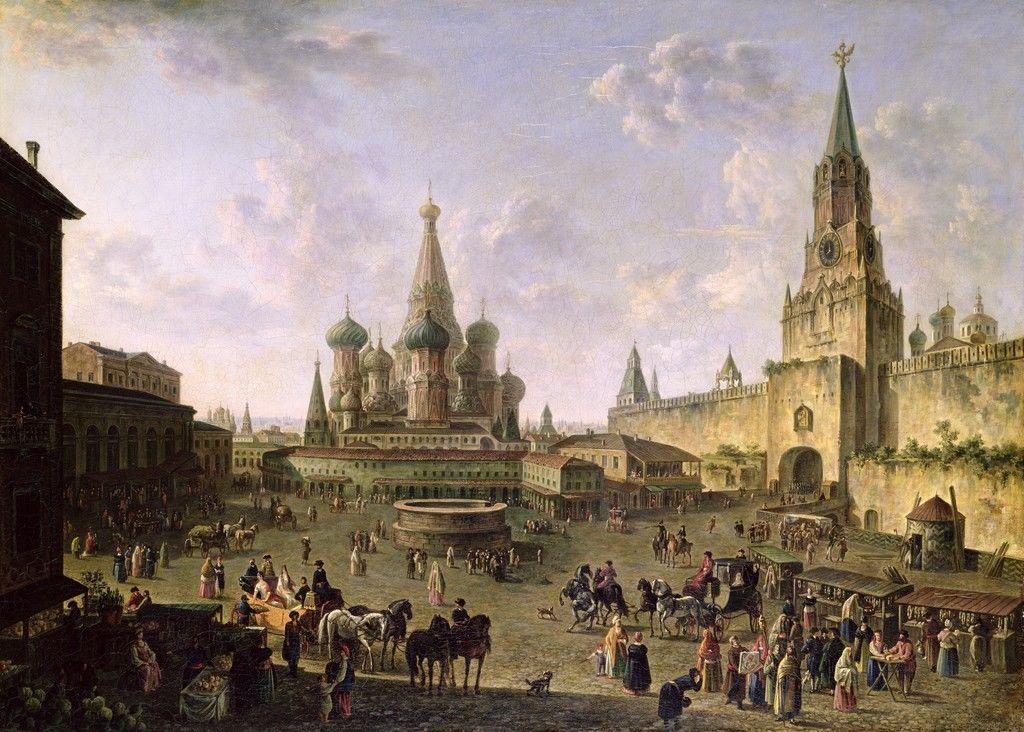 Plac Czerwony - Fedor Yakovlevich Alekseev, 1801