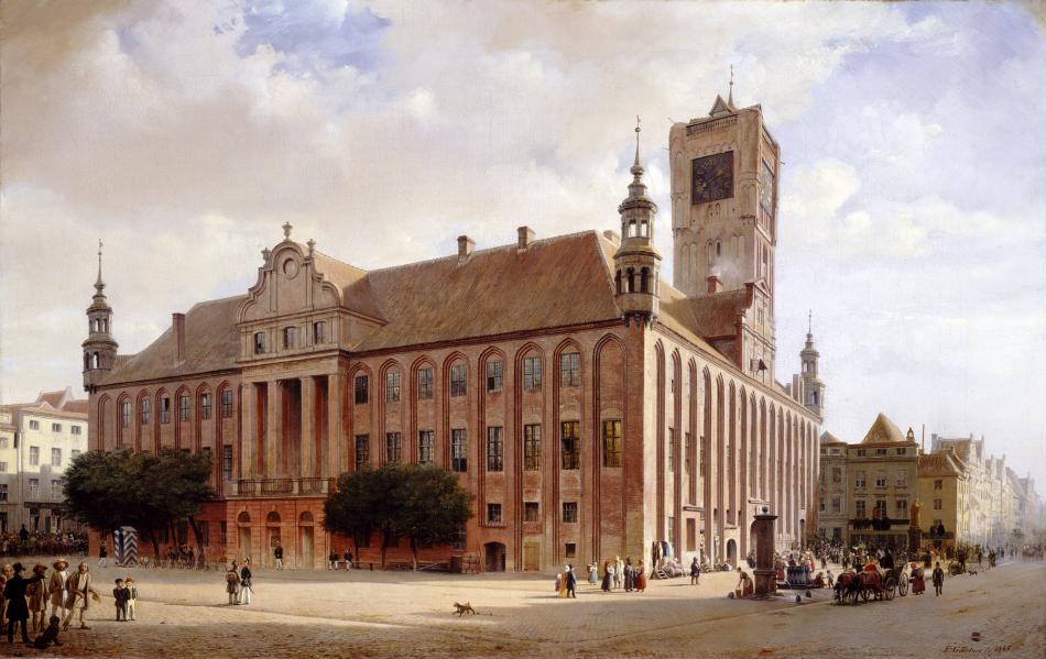 Ratusz w Toruniu - Eduard Gaertner, 1848