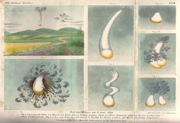 Rozpad bolidu nad Kniaginią (Ukraina) 9 czerwca 1866