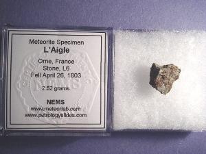 Fragment meteorytu L'Aigle