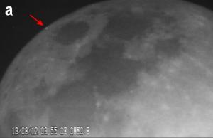 Ślad mikrometeorytu z roju Perseidów z 2012 roku