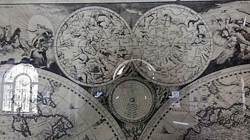 Fragment armeńskiej mapy świata z 1695 roku