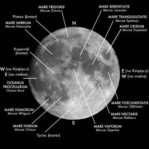 Główne morza księżycowe