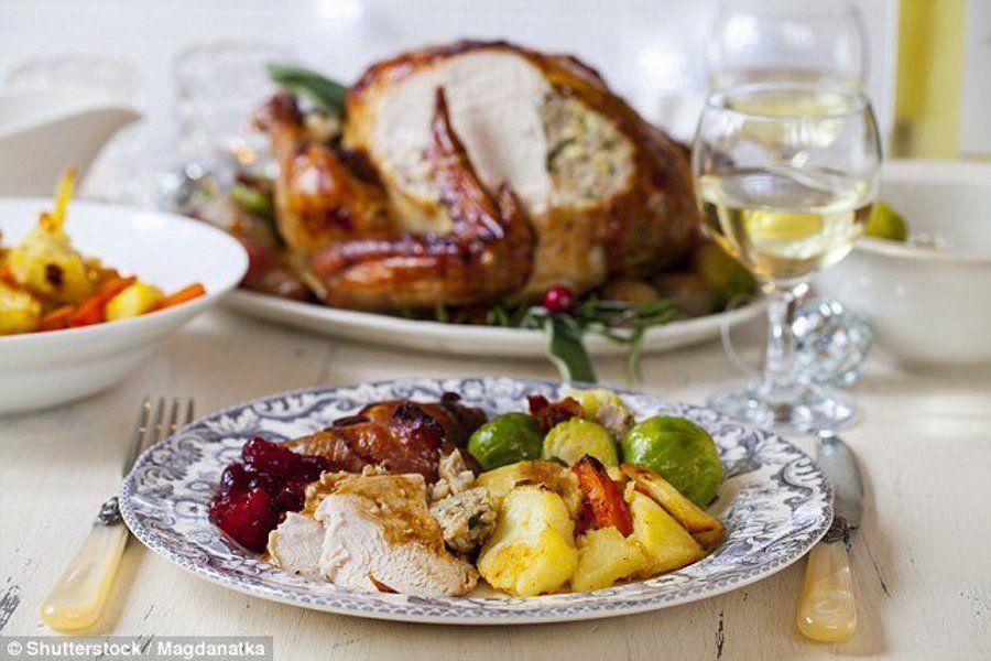 wysoko tłuszczowy świąteczna kolacja brytyjska