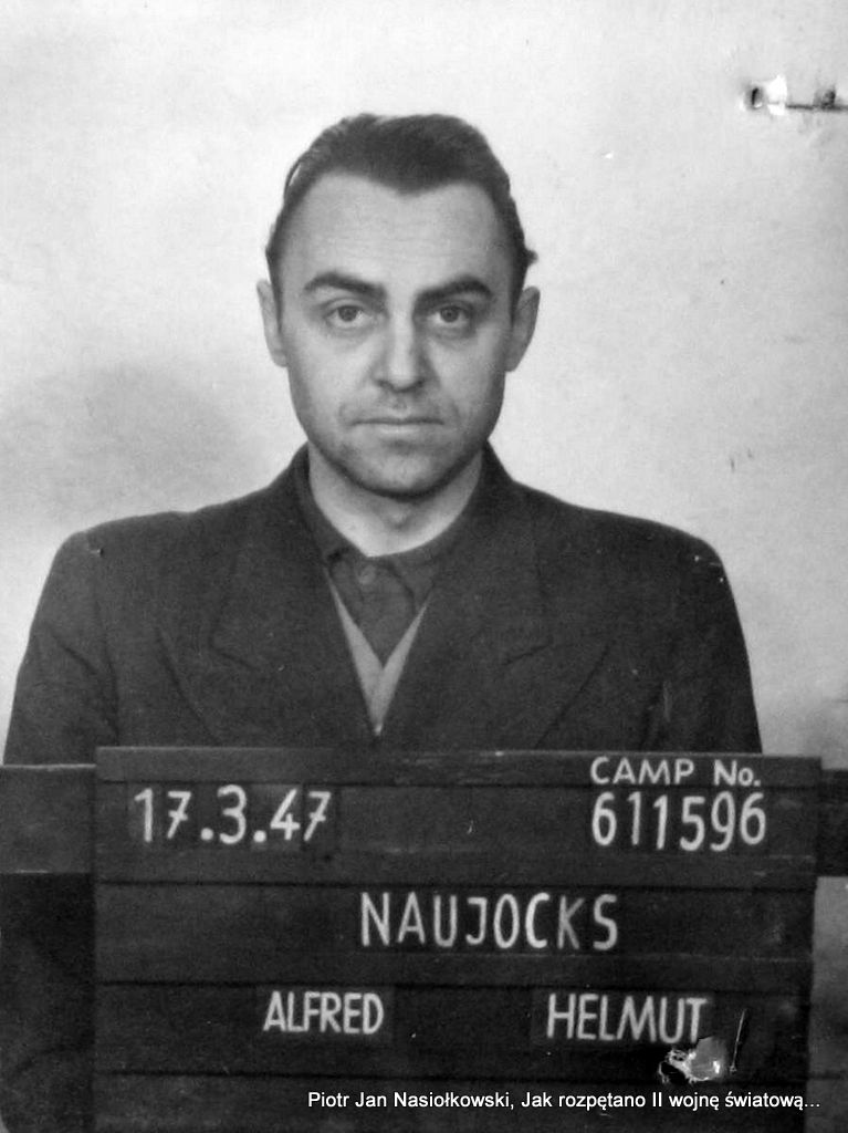 SS-Sturmbahnführer Alfred Naujocks. Zdjęcie powojenne