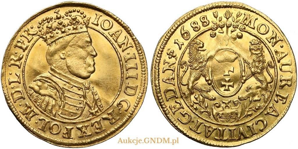 Dukat gdański 1688 z 2 aukcji GNDM