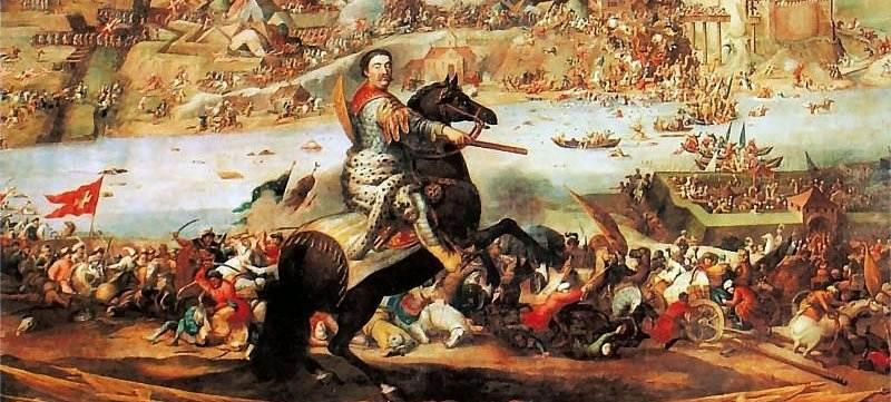 Sobieski pod Chocimiem – fragment obrazu A. Stecha
