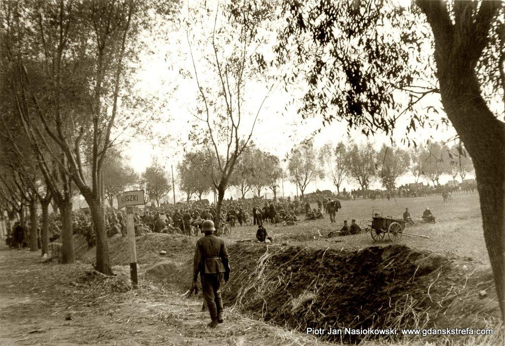 Moment kapitulacji polskiego ugrupowania w rejonie wsi Kiszki koło Janowa Lubelskiego