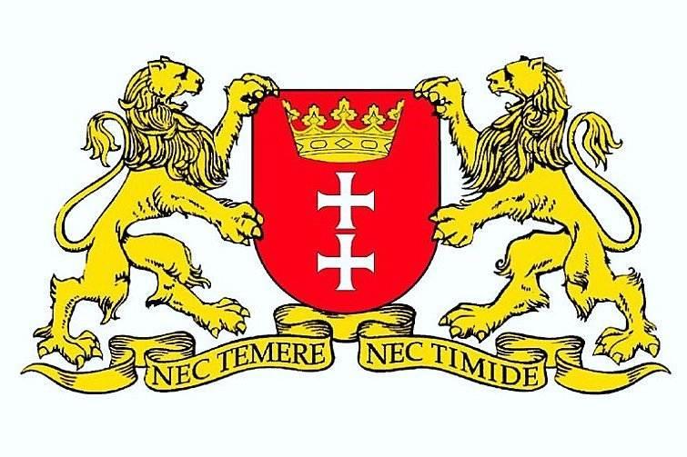 herb Gdańska z lwami