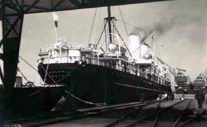ss Polonia w Gdyni 1933 r.