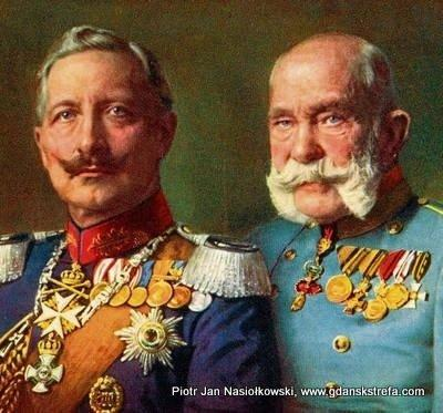 Portret dwóch cesarzy — Wilhelma II i Franciszka Józefa I
