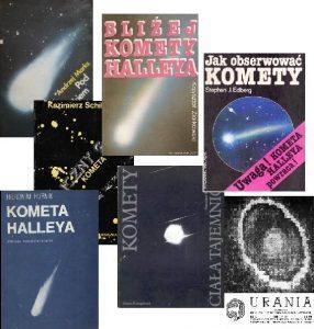 Książkowy arsenał kometarnej wiedzy dostępny rodzimym miłośnikom astronomii w latach 80-tych XX wieku