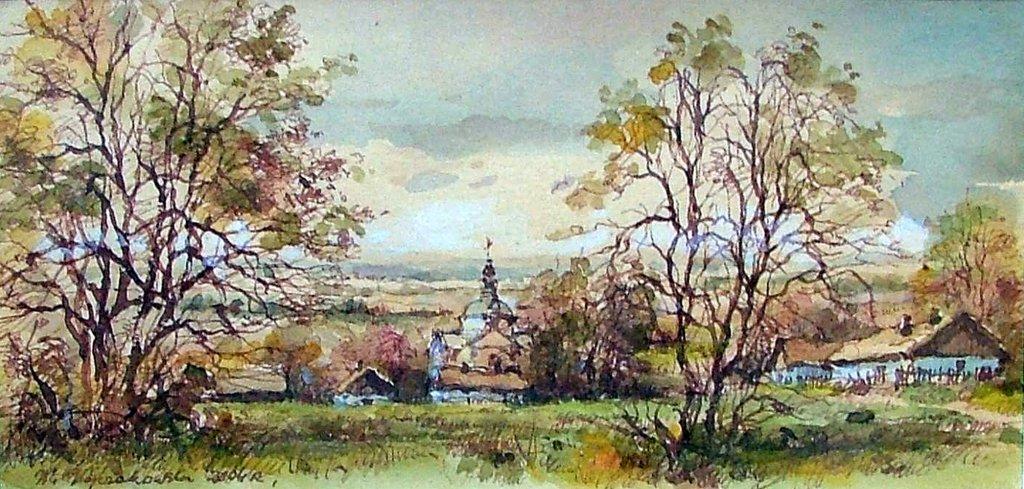 Akwarela Waldemara Wojczakowskiego