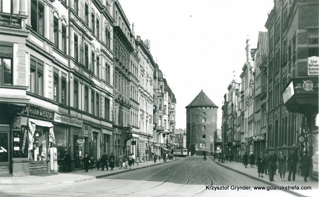 Ulica Stągiewna w latach 40 XX wieku.