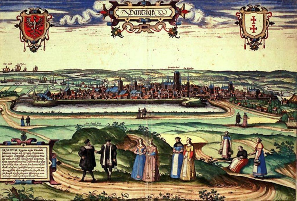 Panorama Gdańska 1573