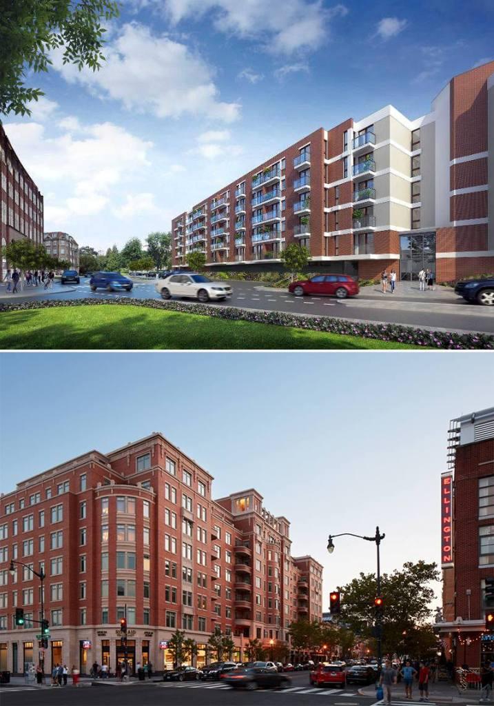 Apartamenty w śródmieściu Gdańska (na górze), apartamenty w Waszyngtonie (dół)